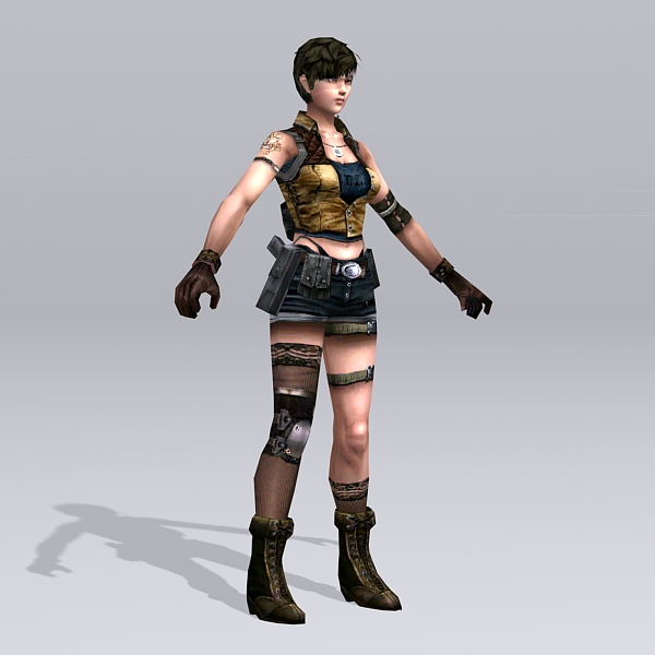 Female Soldier Art 3d Model 3ds Max Files Free Download Modeling 38591 On CadNav