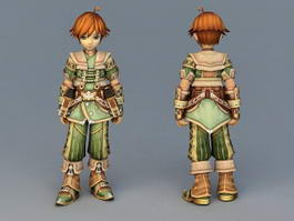 anime boy 3d medieval rogue fighter mercenary female character cadnav monk shaolin assassin