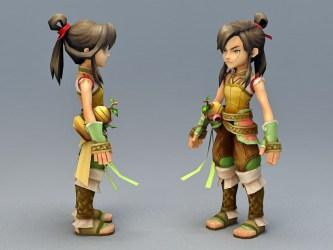 3d anime character medieval rogue boy max 3ds cadnav models