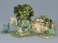 Garden Ruins 3d model 3ds Max files free download ...