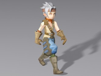 3d boy anime medieval walking rigged animation poly low cadnav