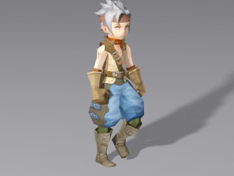 3d anime medieval walking boy rigged poly low cadnav texture animation