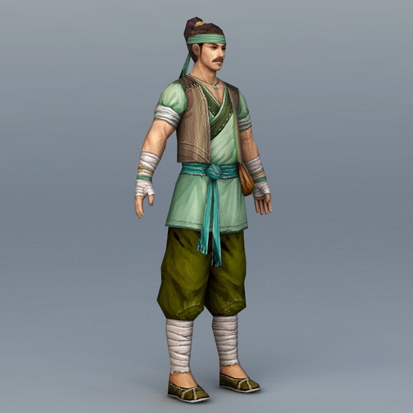 Chinese Peasant Farmer 3d model 3ds Max files free