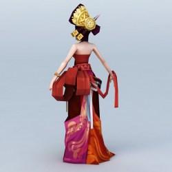 3d chinese anime dancer ancient character fbx cadnav