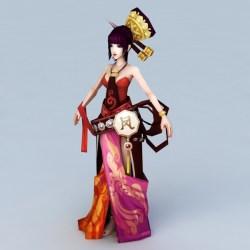 3d anime chinese dancer ancient fbx 3ds max character cadnav file models