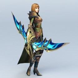 archer female 3d medieval character models cadnav max