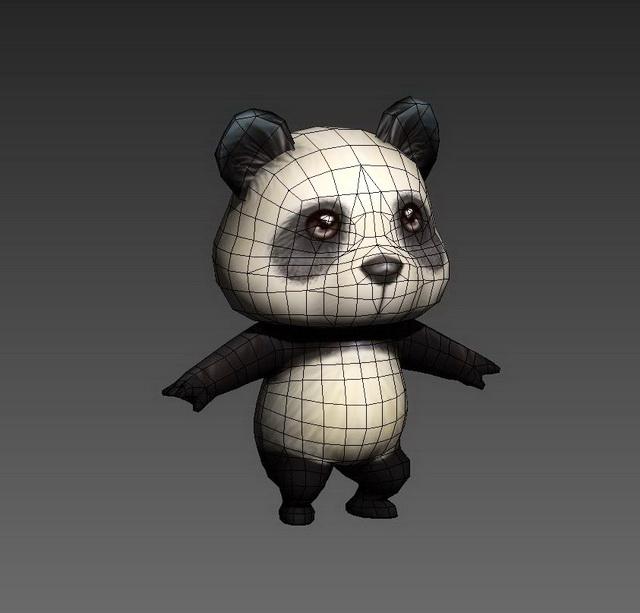 Cartoon Anime Panda 3d Model 3ds Max Files Free Download