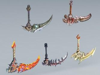 scythe anime weapons 3d cadnav models