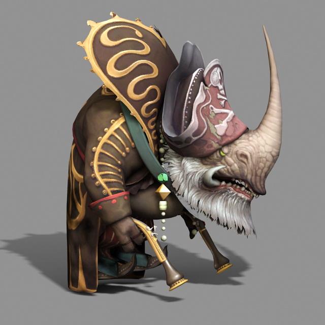 rhino man chief 3d