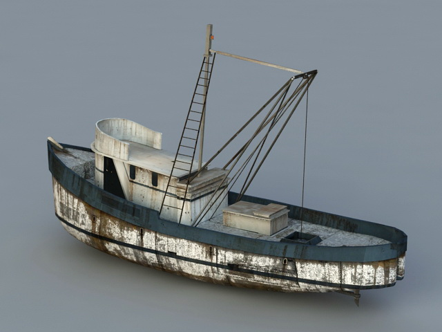 Old Fishing Boat 3d Model Object Files Free Download