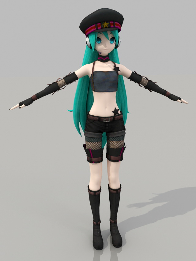 Vocaloid Hatsune Miku 3d Model 3ds Max Files Free Download
