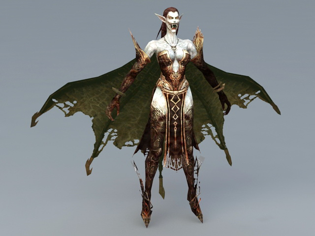 Dark Elf Vampire 3d Model 3ds Max Files Free Download Modeling 41174 On CadNav