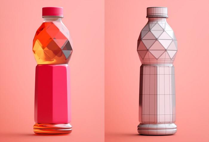 Plastic Beverage Bottle 3d Model Cinema 4D Files Free Download Modeling 41385 On CadNav