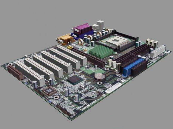 Computer Motherboard 3d model 3D StudioObject files free