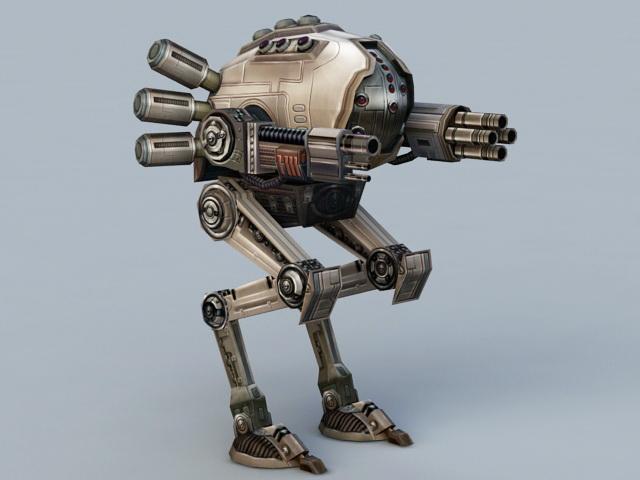 Sci Fi Robot 3d Model Rigged Max Obj Fbx Mtl - Modern Home