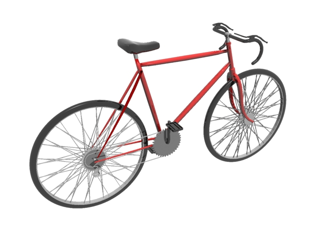 Bicycle Road Bike 3d model 3ds Max files free download