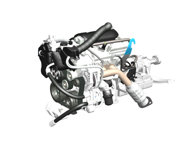 Engine Parts 3d model 3ds Max files free download