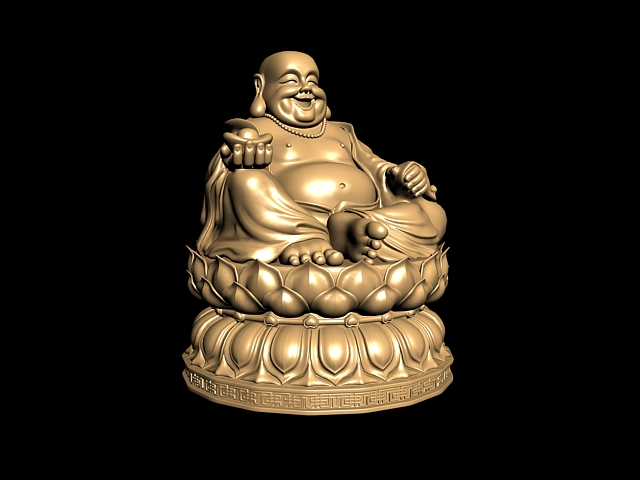 Chinese Laughing Buddha Statue 3d Model 3ds Max Files Free Download Modeling 43337 On Cadnav