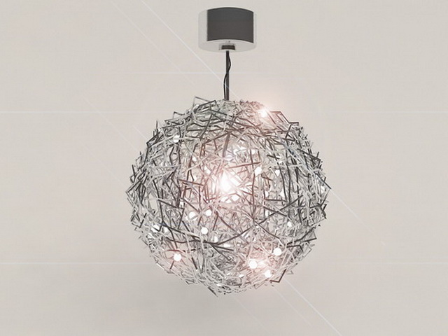 Globe Chandelier 3d model 3ds Max files free download