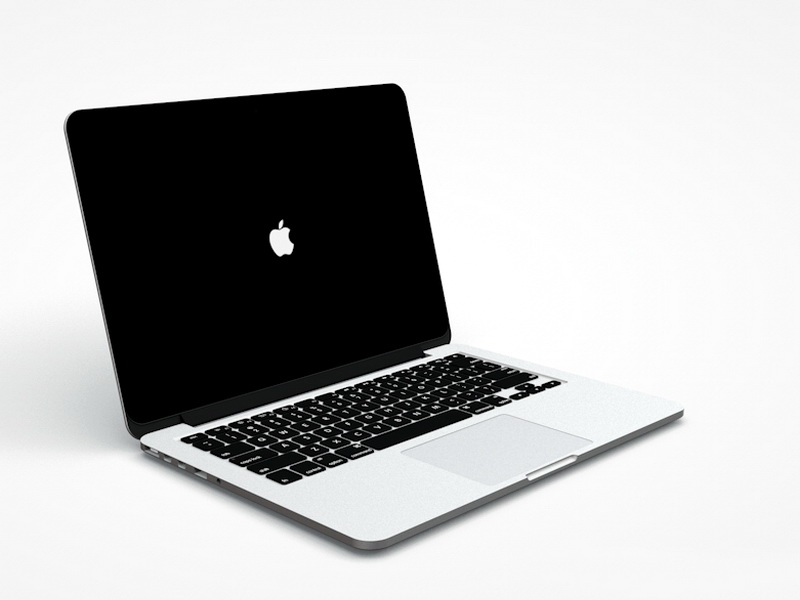 MacBook Pro 3d model Cinema 4D files free download