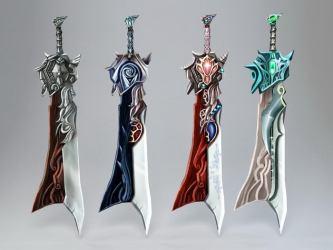 swords anime 3d cadnav blade poly low cool