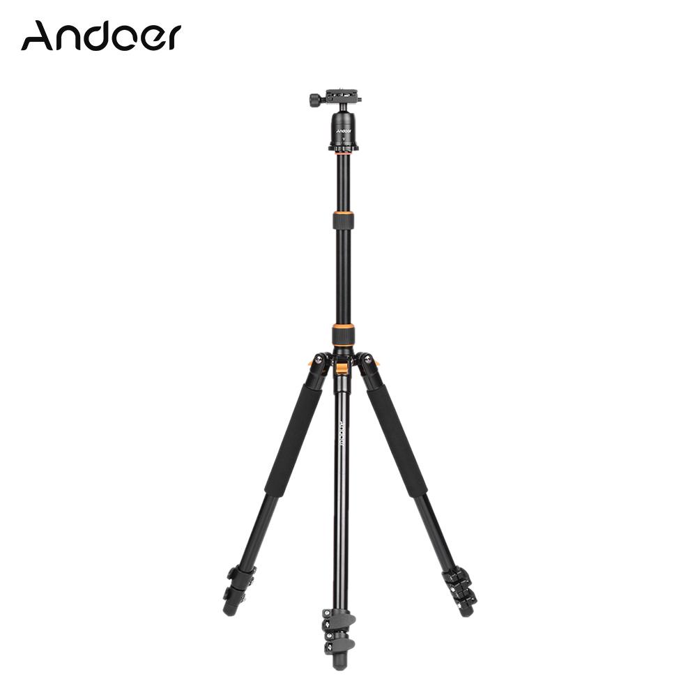 Andoer A-168 Pro Aluminum Alloy DSLR Camera Video Foldable