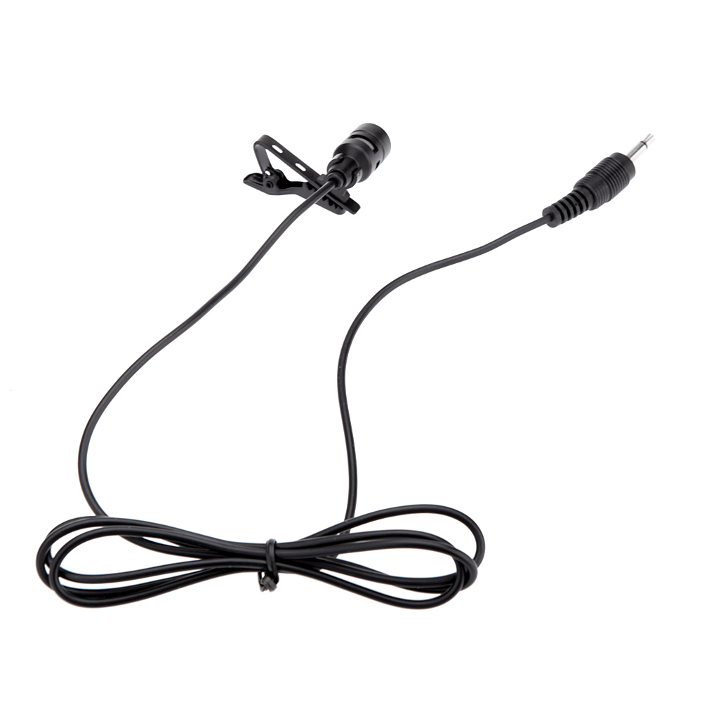 Lavalier Clip Metal Mono Microphone 3.5mm with Collar Clip