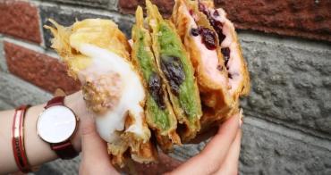 台中美食│Debby House〃一中商圈可頌鯛魚燒,酥酥的外皮,咬下去還會大爆餡!