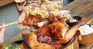 台中美食│安和明 肉食主義〃台中超浮誇丼飯!肉多多到看不見白飯,內用高麗菜絲、小菜、飲料無限續~