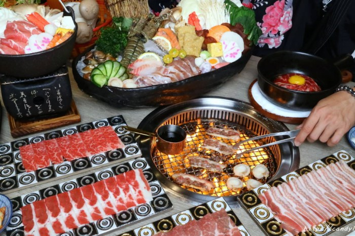 山鯨燒肉│台中超狂龍蝦火烤兩吃來囉!海鮮區加價只要50!用餐時刻人潮多,建議要先預約!