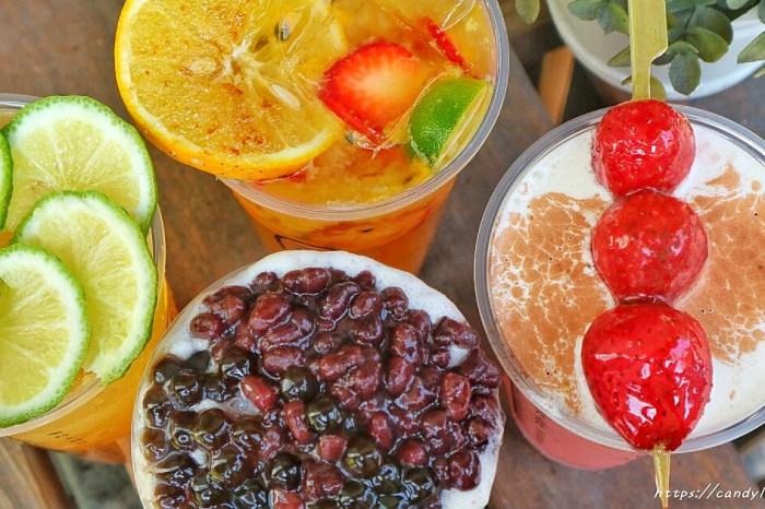 茶本味│首創整支草莓糖葫蘆入料的飲料店,加上芝士奶蓋超邪惡,每日限量,晚來買不到!