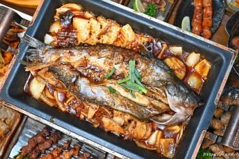食久津居酒屋│台中深夜美食,居酒屋也吃的到重慶烤魚,還有串燒、炸物、熱炒通通有,超寬場地,多人聚餐推薦~