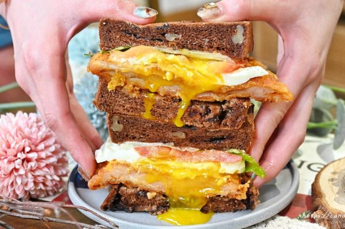 Punz Harry 胖子哈利|台中早午餐推薦!口味創意十足,激推爆漿布朗尼辣雞三明治,可可生吐司入料,甜鹹滋味讓人一吃就愛上!
