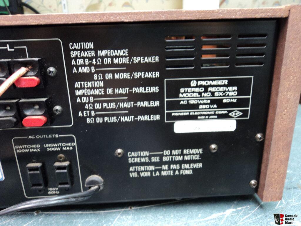 pioneer radio manual h4 halogen bulb wiring diagram sx 780 am fm stereo receiver hifi vintage