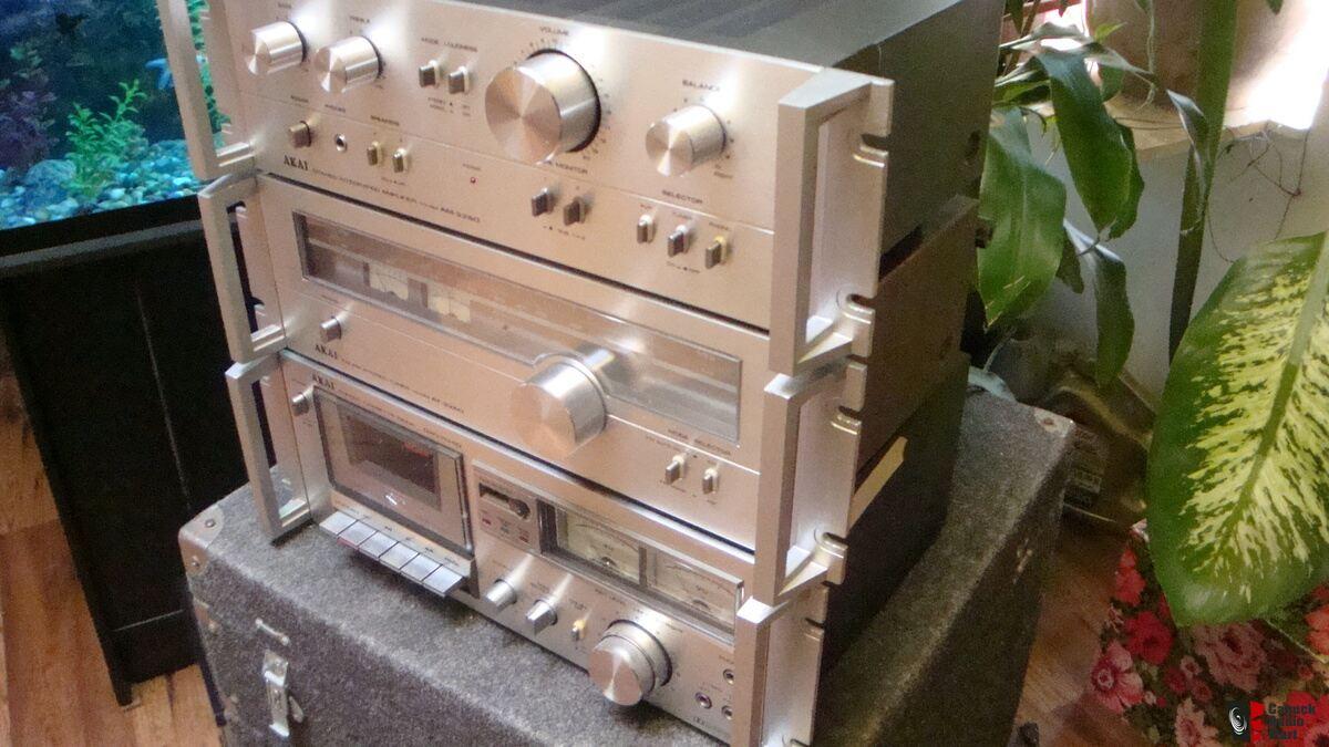 akai vintage rack mount stereo systems
