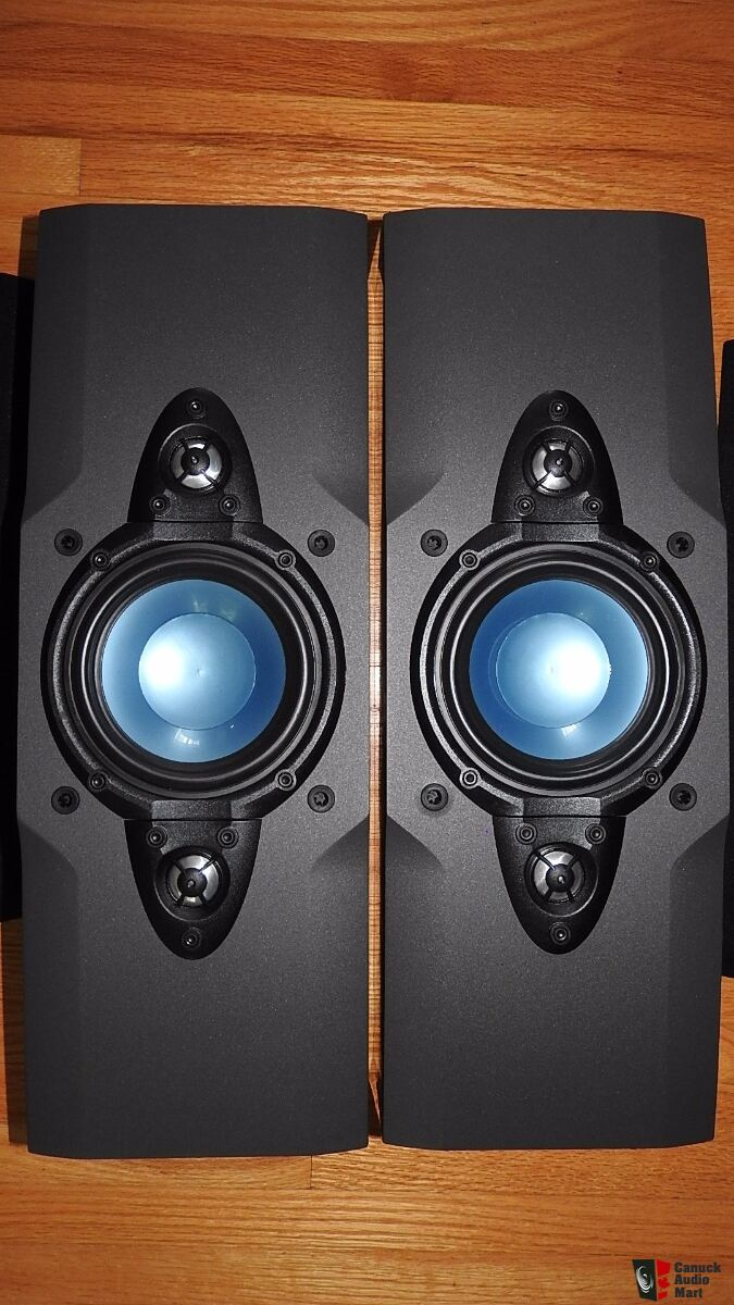 dahlquist qx-80ow large heavy bookshelf speakers made in canada