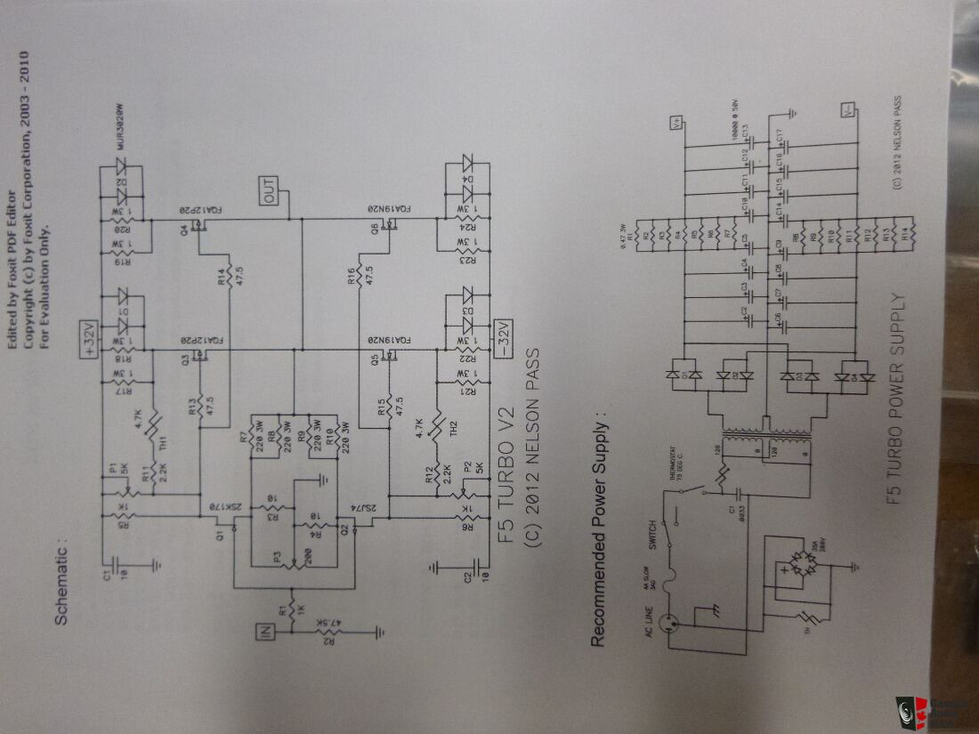 hight resolution of nelson pass first watt diy f5 v2 turbo kit 50 watts pp class a power amp