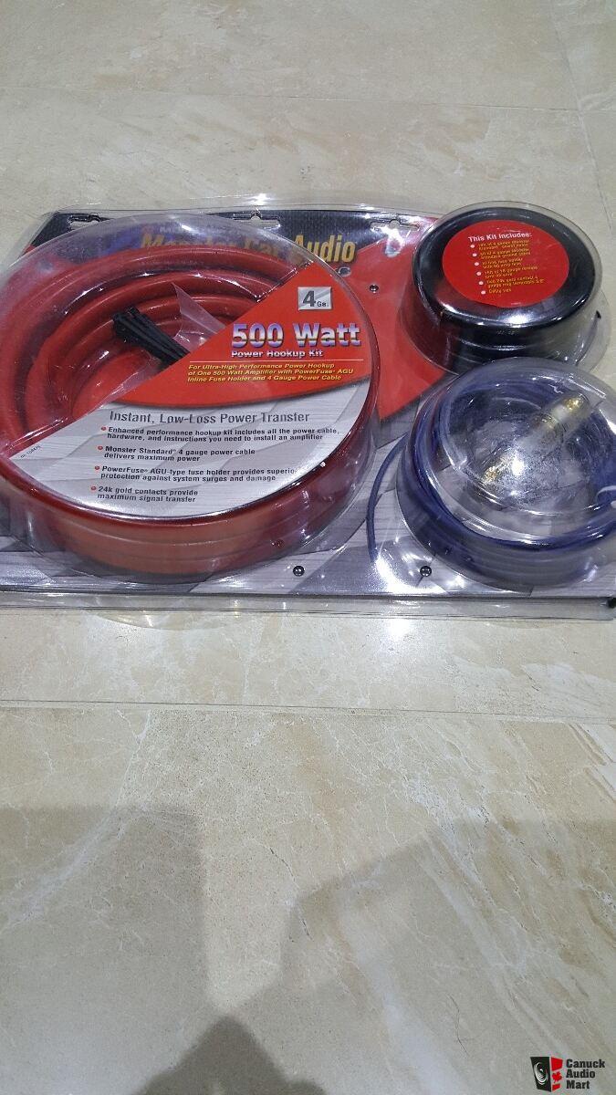 medium resolution of monster car amp wiring kit