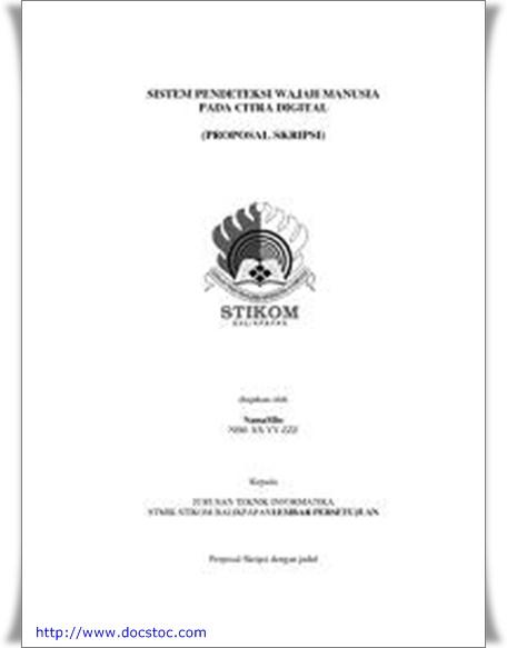 Contoh Proposal Pengajuan Skripsi Stendansons Weblog