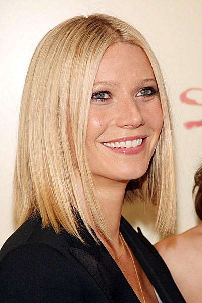 Gwyneth Paltrow Sleek Long Bob Casual Party Everyday