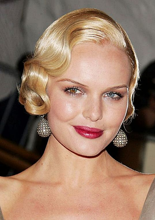 Kate Bosworth's Finger Wave Hairstyle Wedding Formal