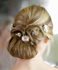 Tucked Chignon With Hair Jewels - Prom, Wedding, Formal ...