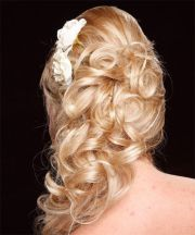 blonde curly - prom hairdo
