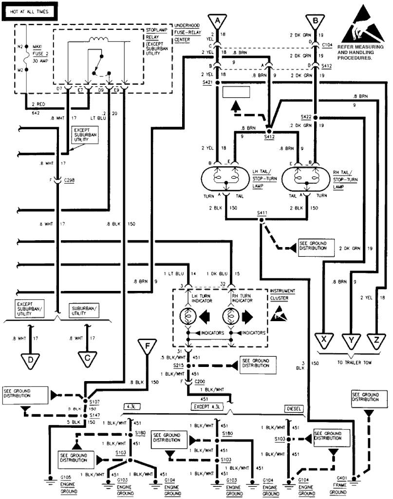 wiring diagram for 1996 chevy blazer ground locations
