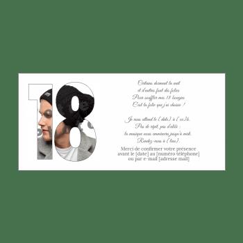 Invitation D Anniversaire 18 Ans Gratuit A Imprimer Ou A Envoyer