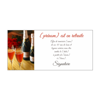 carte invitation retraite champagne