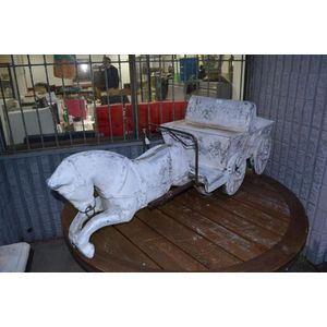 vintage carousel horses and amusements fairgound and