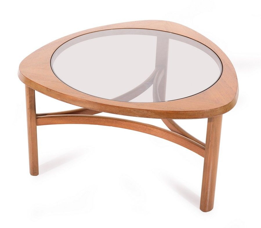 g plan triangular coffee table with glass feature england c english furniture post 1950