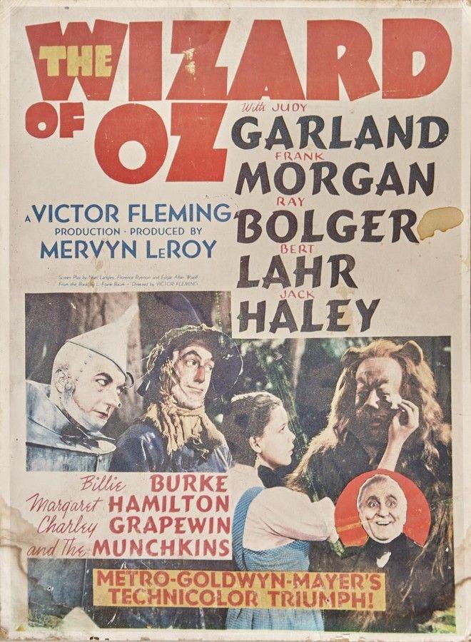 an original wizard of oz movie poster