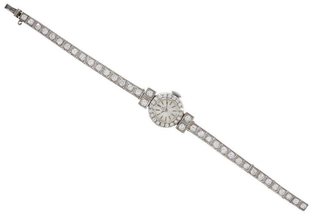 An Omega diamond cocktail wristwatch, manual wind movement